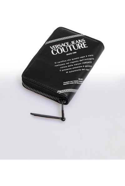 Versace J. Couture E3 Yzapa6 Siyah Yazılı Erkek Cüzdan