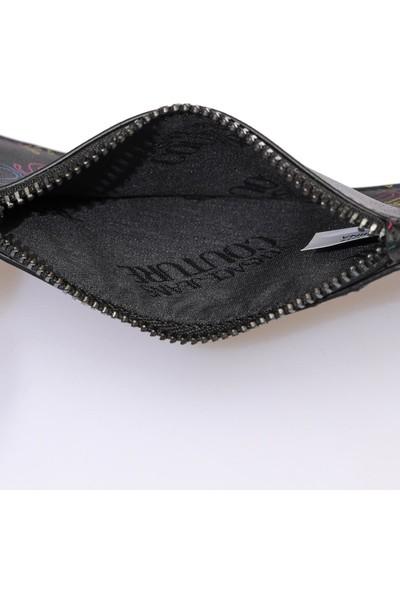 Versace J. Couture E3 Yzbpd5 Siyah Yazılı Erkek Cüzdan