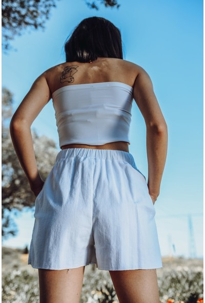 Blanca Nomade Natural Kumaş Şort XL