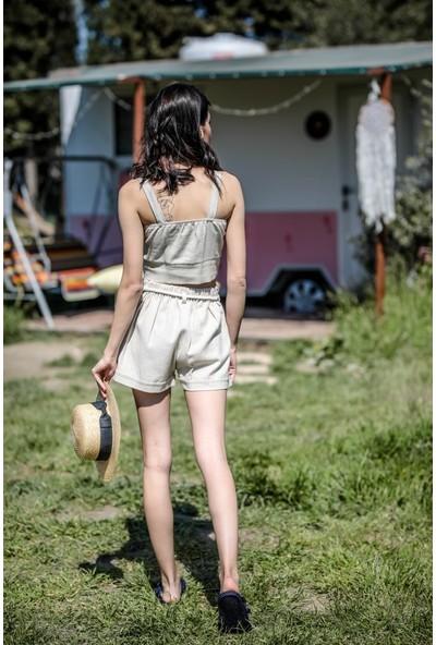 Blanca Zoe %100 Keten Şort XL