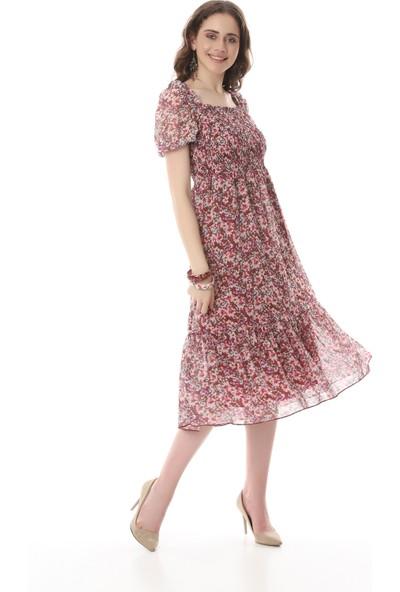 MCG Collection Mcg 585 Kadın Göğüsü Gipeli Şifon Elbise