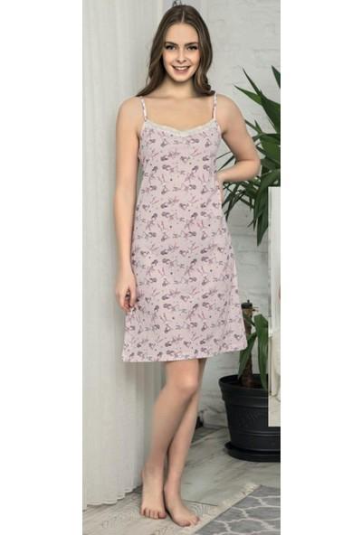 Pijamoni Kadın Ön Dantel Detaylı Ip Askılı Elbise