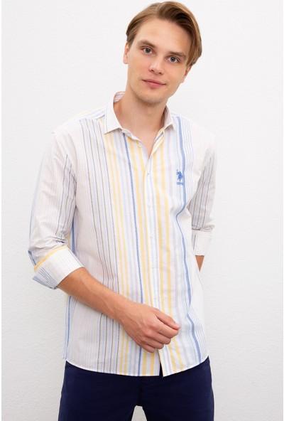 U.S. Polo Assn. Erkek Sarı Gömlek Uzunkol 50218451-VR044