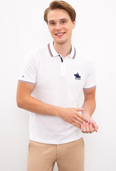 U.S. Polo Assn. Erkek Beyaz T-Shirt 50225241-VR013