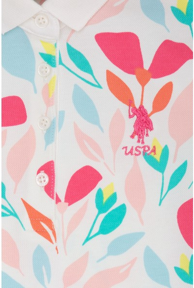 U.S. Polo Assn. Kız Çocuk Beyaz T-Shirt 50223605-VR184