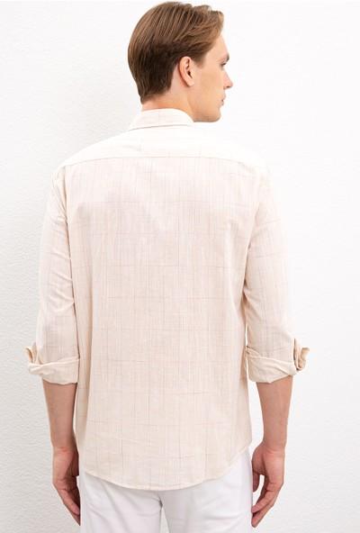 U.S. Polo Assn. Erkek Beyaz Gömlek Uzunkol 50218778-VR011