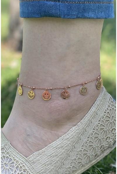 In Love Smile Gülen Yüz Gümüş Halhal Gümüş