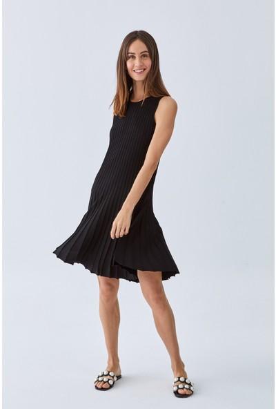 Triko Mısırlı Kadın Elbise W20S A008 El101 Siyah