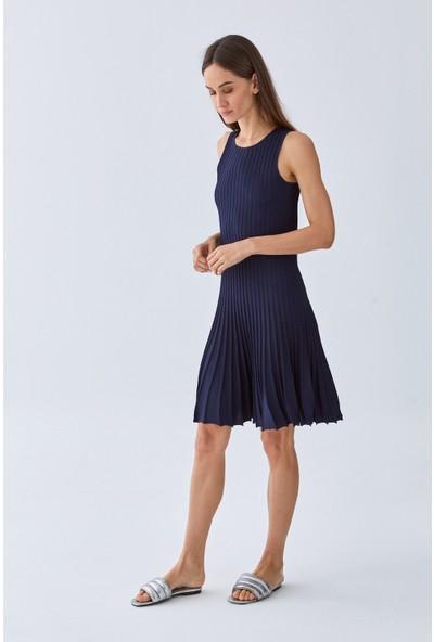 Triko Mısırlı Kadın Elbise W20S A008 El106 Lacivert