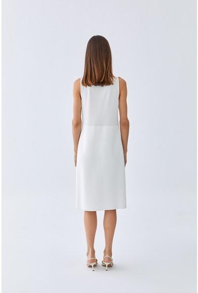Triko Mısırlı Kadın Elbise W20S A029 El139 Kemik