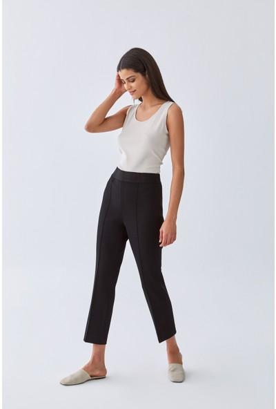 Triko Mısırlı Kadın Pantolon W20S B004 Pn101 Siyah