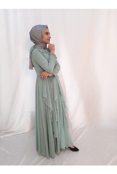Tuana 15655 Abiye Mint Elbise