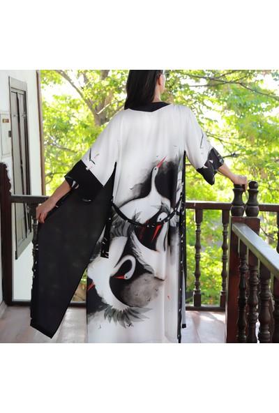 Yeşim Livaoğlu Leylek Kimono