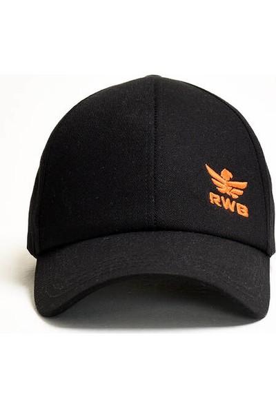RWB Erkek Nakışlı Siyah Şapka