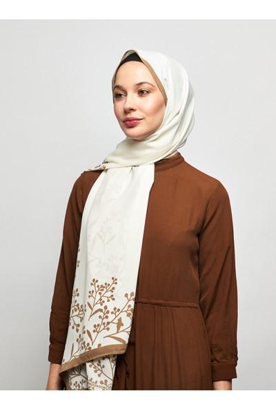 Moda Kaşmir Papaver Desenli Medine Ipeği Şal