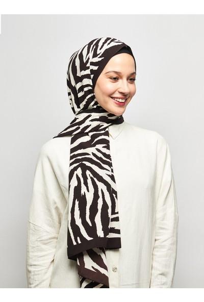 Moda Kaşmir Zebrasa Desenli Medine Ipeği Şal