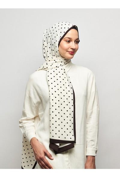 Moda Kaşmir Puantiye Desenli Medine Ipeği Şal