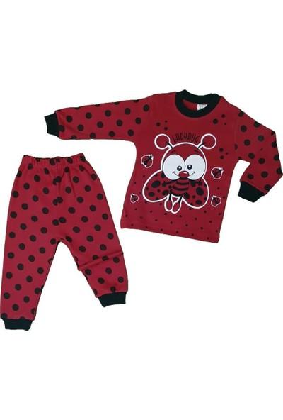Süpermini Kız Çocuk Uğur Böceği Modelli Pijama Takımı