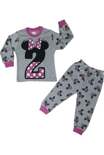 Süpermini Kız Çocuk Miki Mouse Modelli Pijama Takımı