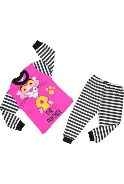 Süpermini Kız Çocuk Pempe Panter Pijama Takımı