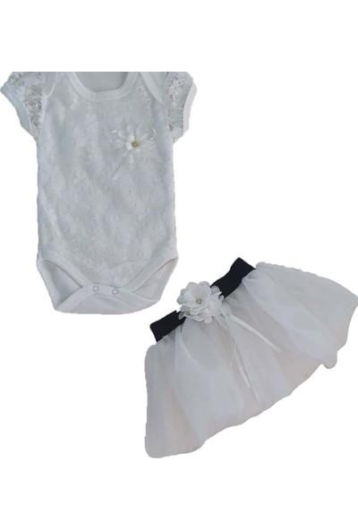Markacity Kız Bebek Tütü Etekli 0-6 Ay 2'li Takım Pembe