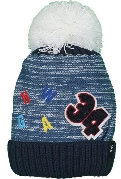 Kitti Erkek Çocuk 1-4 Yaş Ponponlu Şapka