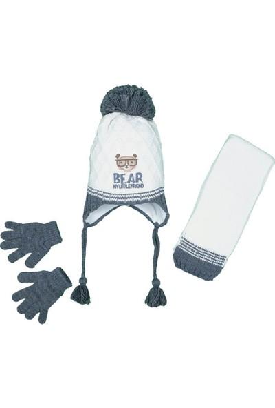 Kitti Erkek Çocuk 1-4 Yaş Atkı-Bere-Eldiven Takımı