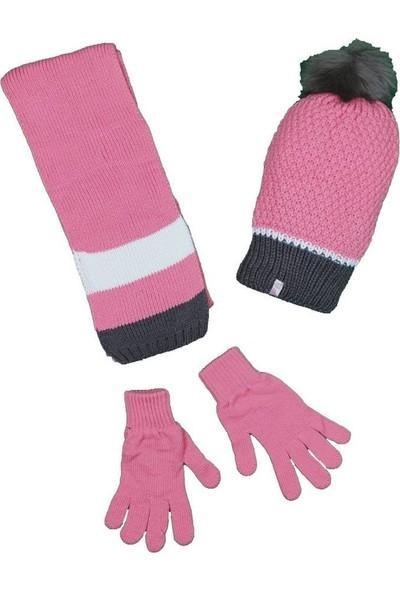 Kitti Kız Çocuk 5-8 Yaş Atkı-Bere-Eldiven Takımı