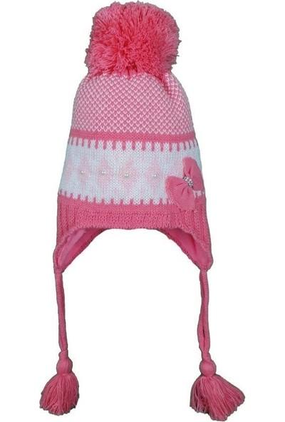 Kitti Kız Çocuk 1-4 Yaş Kurdale Modelli Ponponlu Şapka
