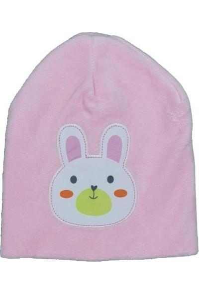 Akyüz Bebe Kız-Erkek Bebek Tavşan Modellli Kadife Bere