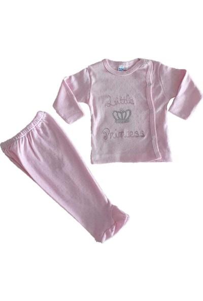 Babycon Kız-Erkek Bebek Little Prince-Princess İşlemeli
