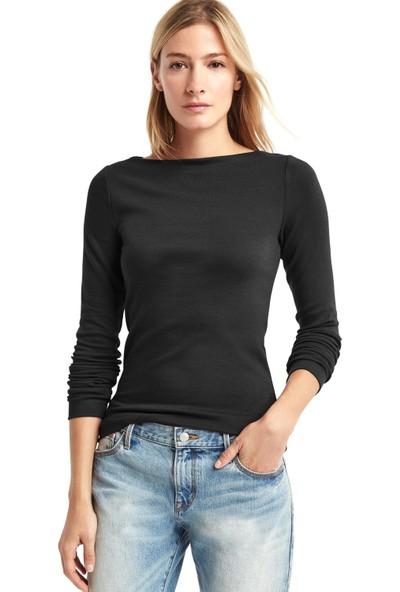 Gap Uzun Kollu Kayık Yaka T-Shirt