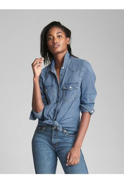 Gap Kadın Denim Gömlek