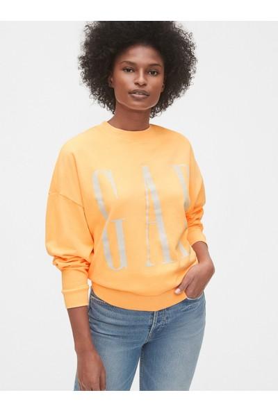 Gap Kadın Logo Düz Yakalı Sweatshirt