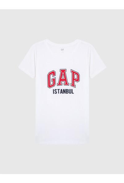Gap Kadın Logo Kısa Kollu Istanbul T-Shirt