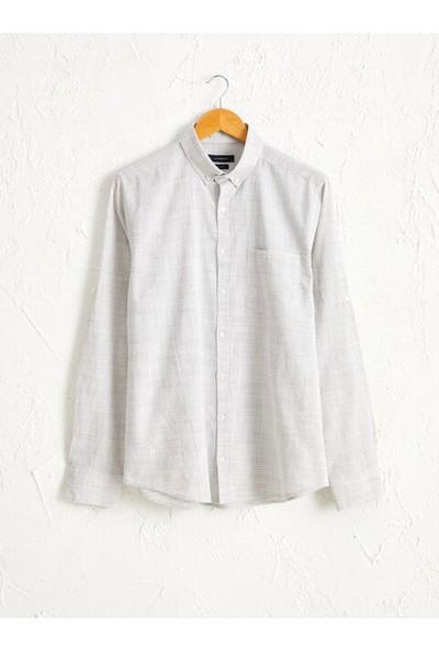LC Waikiki Düğmeli Gömlek Yaka Erkek Gömlek