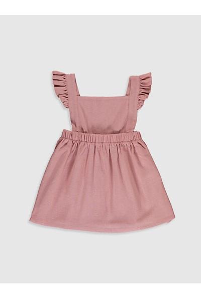 LC Waikiki Kare Yaka Kız Bebek Elbise