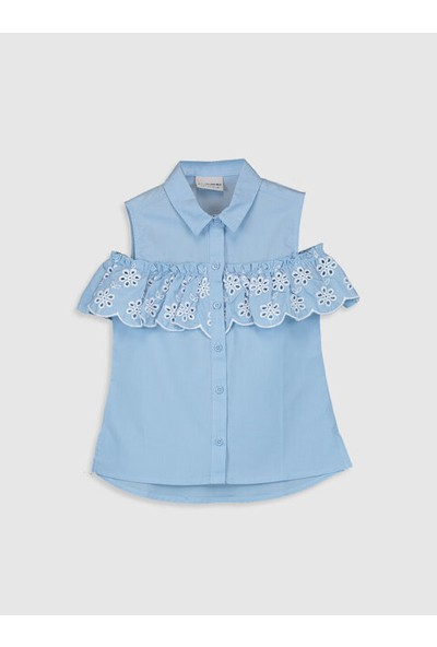 LC Waikiki Bebe Yaka Kız Çocuk Gömlek