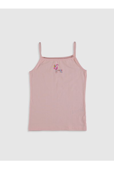 LC Waikiki U Yaka Kız Çocuk İç Giyim Atlet