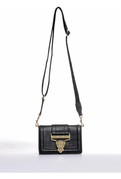 Versace J. Couture E1 Vzabs4 Siyah Kadın Omuz Çantası