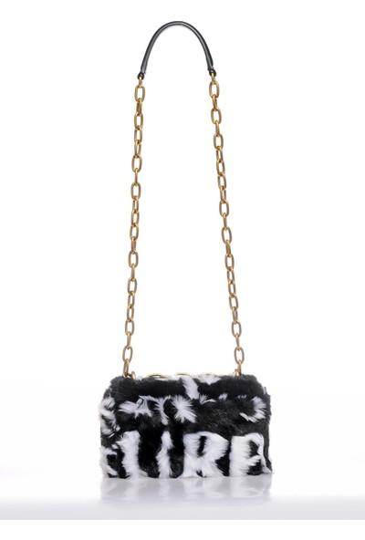 Versace J. Couture E1 Vzbbu1 Siyah/beyaz Kadın Omuz Çantası