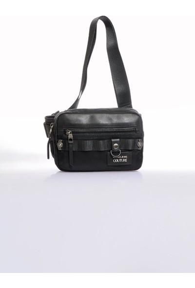 Versace J. Couture E1 YZAB12 Siyah Erkek Bel Çantası