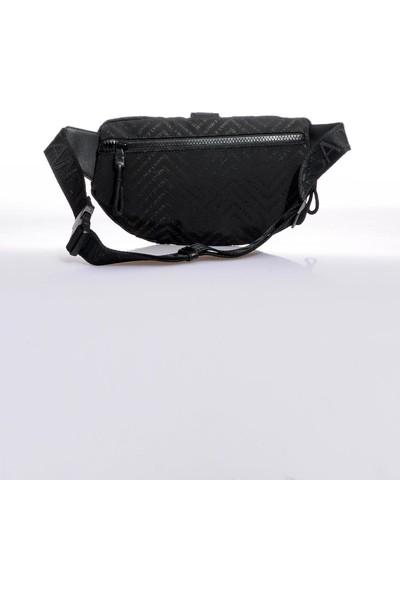 Versace J. Couture E1 YZAB96 Siyah Erkek Bel Çantası