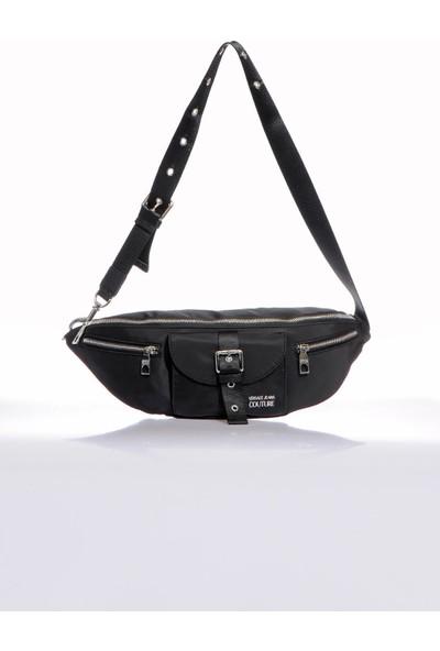 Versace J. Couture E1 YZBB33 Siyah Erkek Bel Çantası