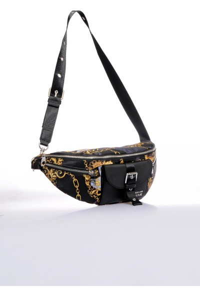 Versace J. Couture E1 YZBB33 Siyah Renkli Erkek Bel Çantası