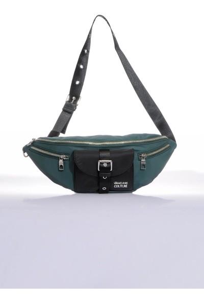 Versace J. Couture E1 YZBB33 Yeşil Erkek Bel Çantası