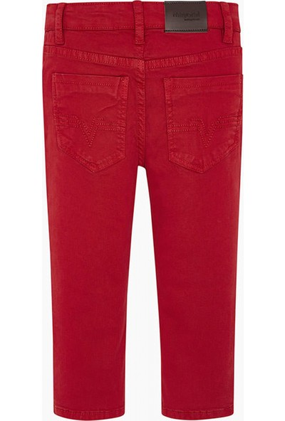 Mayoral Pantolon Regular Fit 5 Cepli Rojo 041