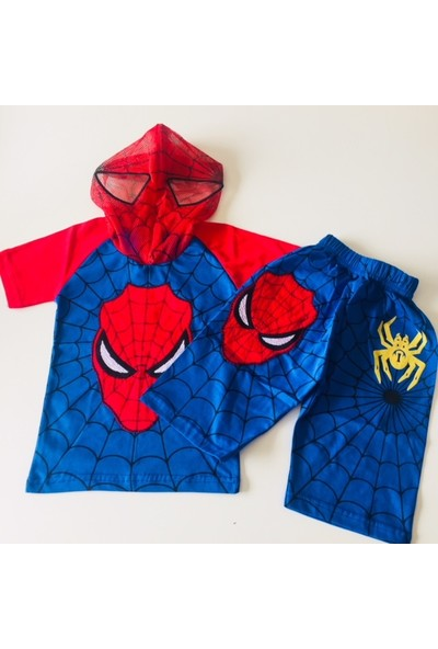 Spiderman Örümcek Adam Tshirt Şort Takım Eşofman Kostüm