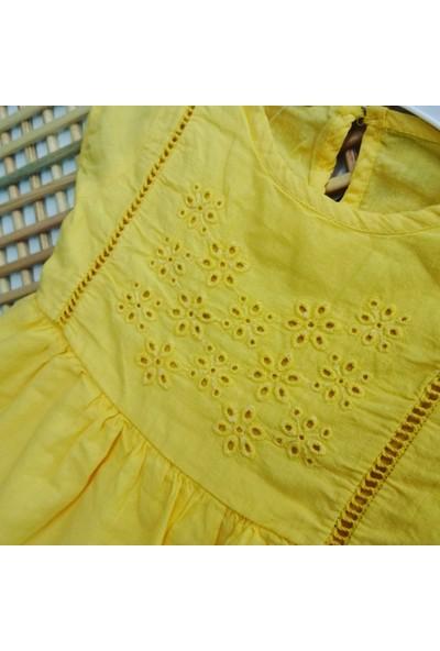 Via Girls Kız Bebek Yazlık Elbise Sarı