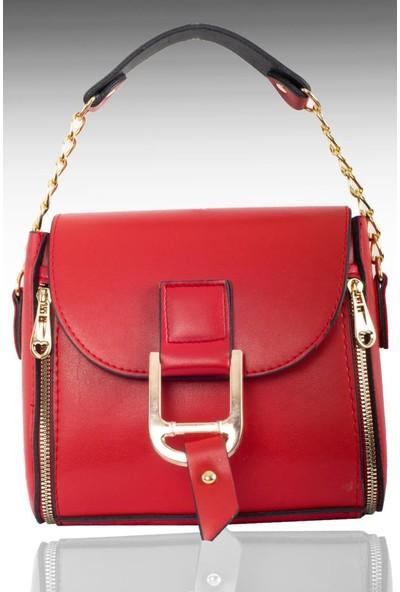 Trq Kadın Çapraz Askılı El Çanta - 2140 Kırmızı
